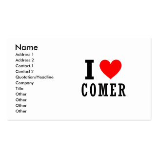 Comer, Alabama City Design Double-Sided Standard Business Cards (Pack Of 100)