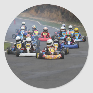 Comer cadet go karting kart race classic round sticker