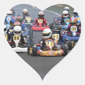 Comer cadet go karting kart race heart sticker