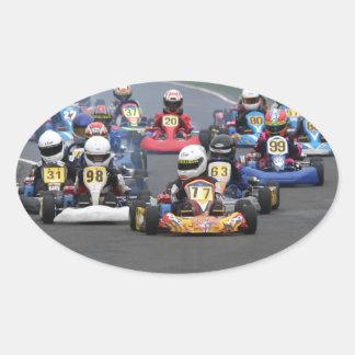 Comer cadet go karting kart race oval sticker