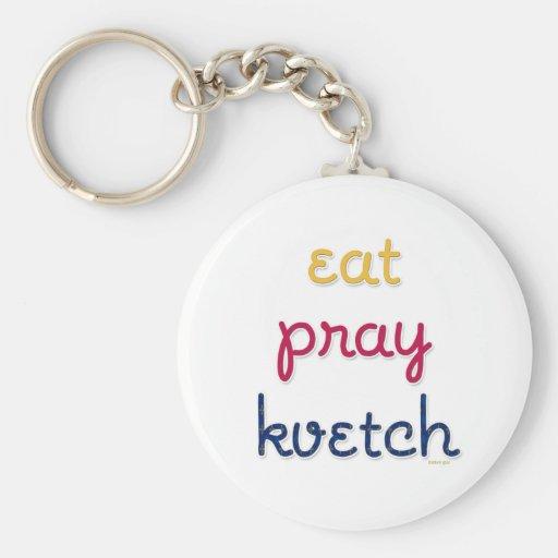 Comer-Ruegue-Kvetch Llavero