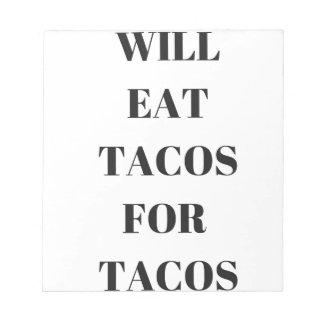 Comerá el Tacos para la colección divertida del Bloc
