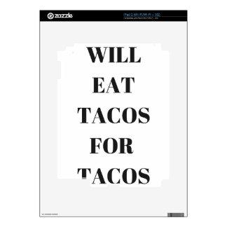 Comerá el Tacos para la colección divertida del iPad 2 Skins