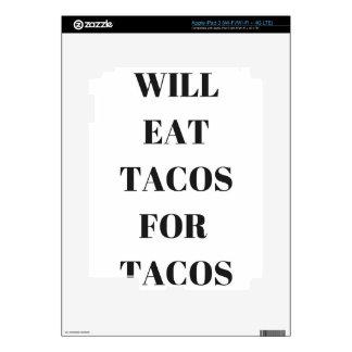 Comerá el Tacos para la colección divertida del iPad 3 Skins
