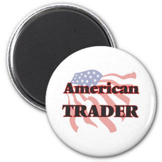 Comerciante americano imán redondo 5 cm