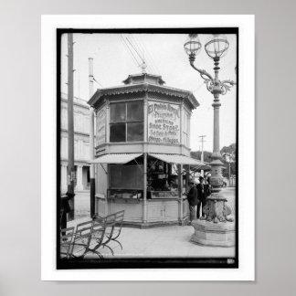 Comerciante de la esquina de calle, vintage de La Póster