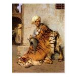 Comerciante de la piel de El Cairo por Jean-León G Postal