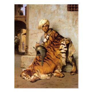Comerciante de la piel de El Cairo por Jean-León Tarjeta Postal