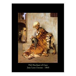Comerciante de la piel de la postal de El Cairo