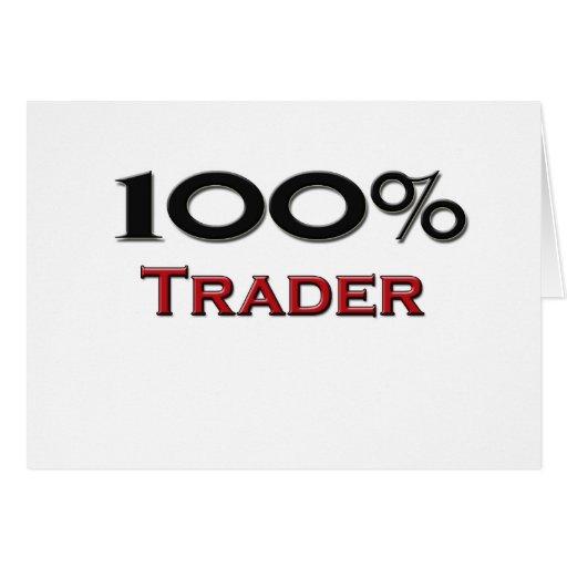 Comerciante del 100 por ciento felicitacion
