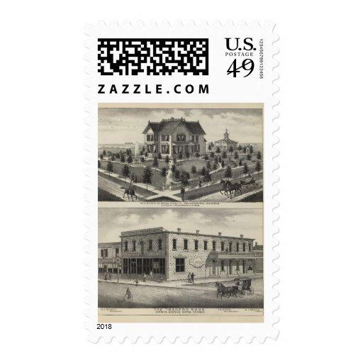 Comerciantes banco, Kansas de Phillipsburg Sellos