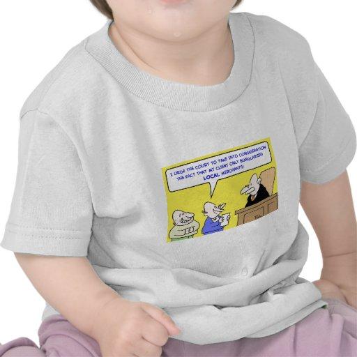 comerciantes locales robados juez camiseta