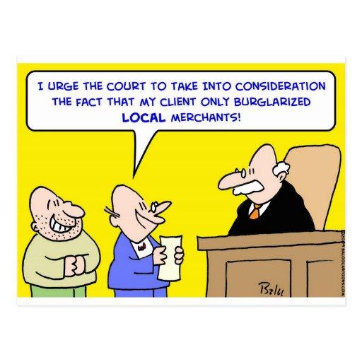 comerciantes locales robados juez tarjeta postal