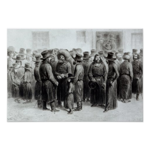 Comerciantes y comerciantes judíos póster