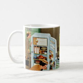 Comercio al por menor del vintage, tienda de la taza básica blanca