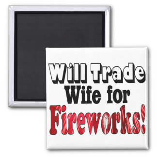 Comercio de la esposa de los fuegos artificiales iman