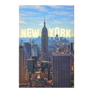 Comercio mundial del Empire State Building del Lona Envuelta Para Galerias