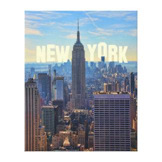 Comercio mundial del Empire State Building del Lona Envuelta Para Galerías
