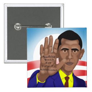 Comercios de Obama en tablero televisivo Pin Cuadrado