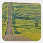 Comertown gravel road in remote northeastern square sticker