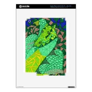 """""""Comes A Dragon"""" iPad 3 (Wi-Fi/Wi-Fi + 4G LTE) Decal For iPad 3"""