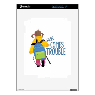 Comes Trouble Decal For iPad 2
