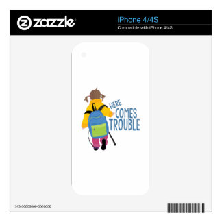 Comes Trouble Skins For iPhone 4