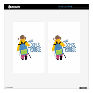 Comes Trouble Skins For Kindle Fire