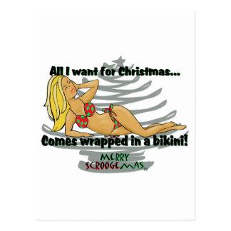 Comes Wrapped In A Bikini Postcard