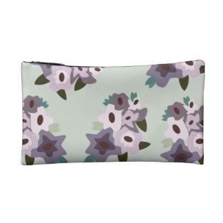 Comestic bag with Flower pattern