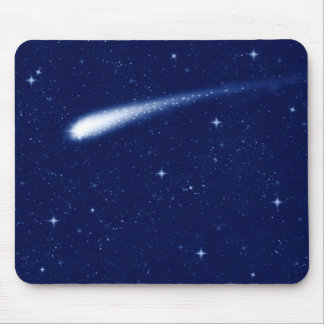 Comet #2 - Mousemat Horizontal Navy Blue Mouse Pad