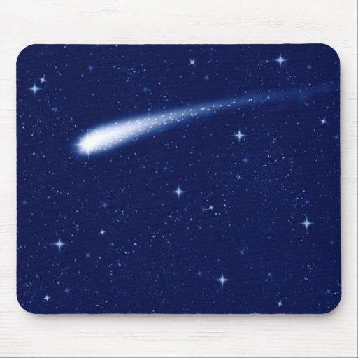 Comet #2 - Mousemat Horizontal Navy Blue Mouse Pad