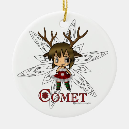 Comet Ceramic Ornament