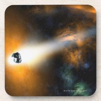 Comet descending through atmosphere coaster