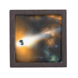 Comet descending through atmosphere keepsake box