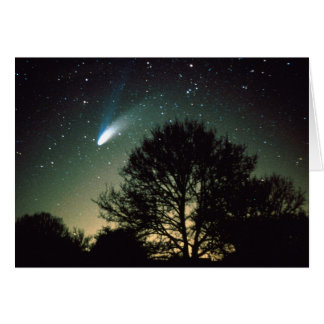 Comet Hale-Bopp and Tree Greeting Card