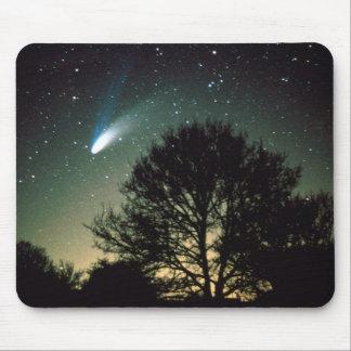 Comet Hale-Bopp and Tree Mousepad / Mousemat
