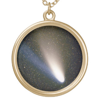 Comet Hale Bopp Gold Plated Necklace