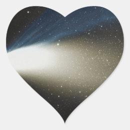 Comet Hale-Bopp Heart Sticker