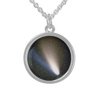Comet Hale Bopp Round Pendant Necklace