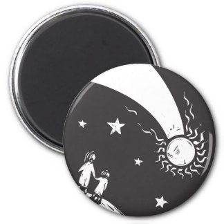 Comet in the Sky 2 Inch Round Magnet