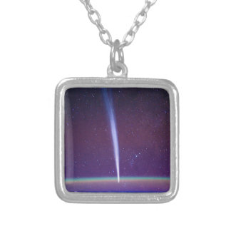 Comet Lovejoy Near Earth's Horizon Personalized Necklace
