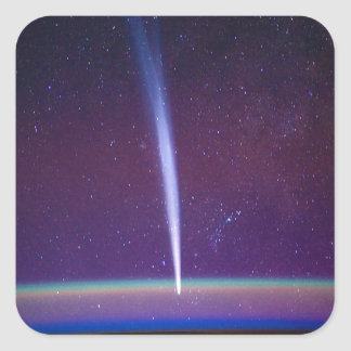 Comet Lovejoy Near Earth's Horizon Square Sticker