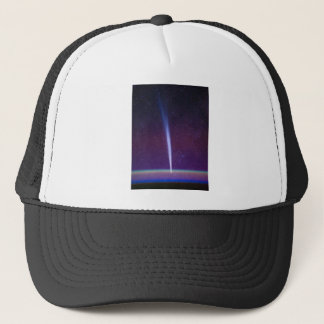 Comet Lovejoy Near Earth's Horizon Trucker Hat
