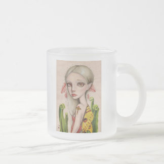 Comet Moth Frosted Glass Coffee Mug