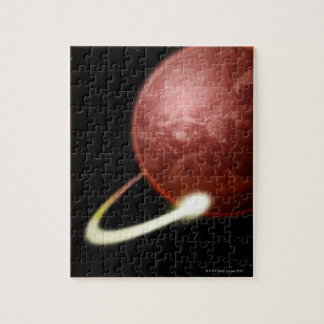 Comet Orbiting a Red Planet Jigsaw Puzzle