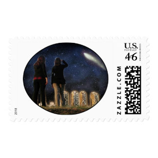Comet Over the City Postage