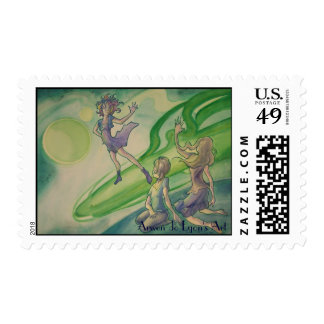Comet Passerby Stamps