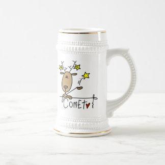 Comet Reindeer Christmas Tshirts and Gifts 18 Oz Beer Stein