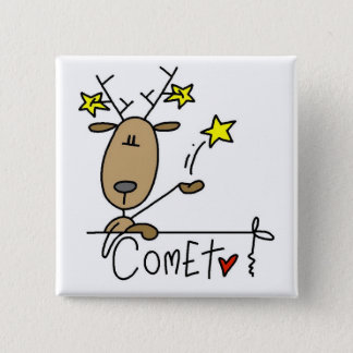 Comet Reindeer Tshirts and Gifts Pinback Button
